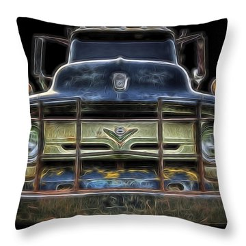 Bad 56 Ford Throw Pillow