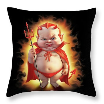 Bad Baby Throw Pillow