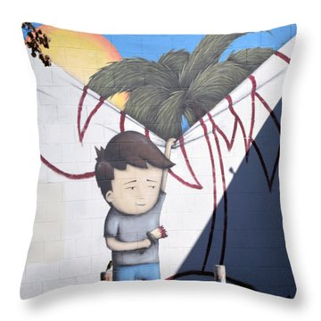 Bad Boy Throw Pillow by Bill Dutting