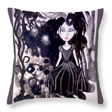 Bad Doll  Throw Pillow