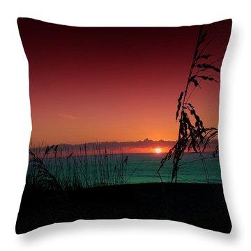 Bad East Coast Sunrise  Throw Pillow