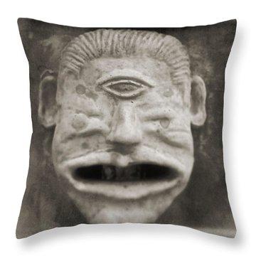 Bad Face Throw Pillow