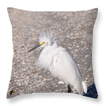 Bad Hair Day Throw Pillow