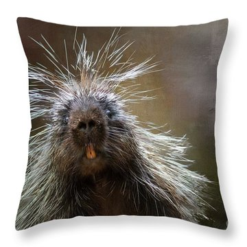 Bad Hairday Throw Pillow