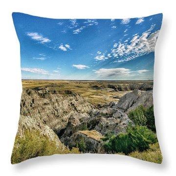 Bad Lands South Dakota.... Throw Pillow