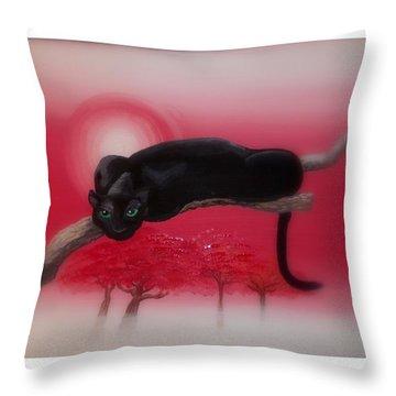 Bad Leopard   Throw Pillow