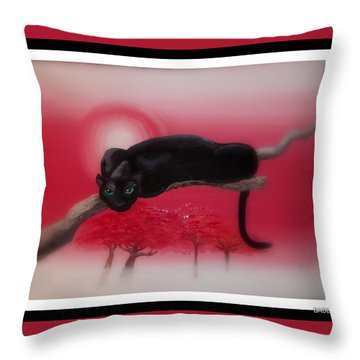 Bad Leopard   Throw Pillow