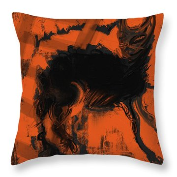 Bad Luck Throw Pillow by Russell Pierce