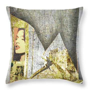 Throw Pillow featuring the mixed media Bad Luck by Tony Rubino