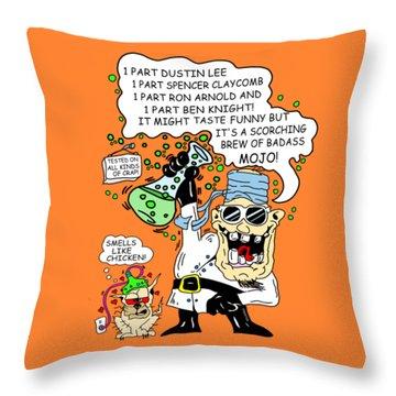 bAD mOjO v2 Throw Pillow