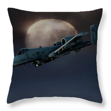 Throw Pillow featuring the digital art Bad Moon by Peter Chilelli