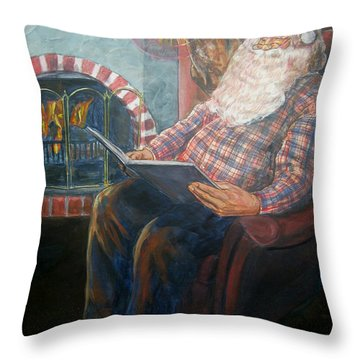 Bad Rudolph Throw Pillow by Bryan Bustard