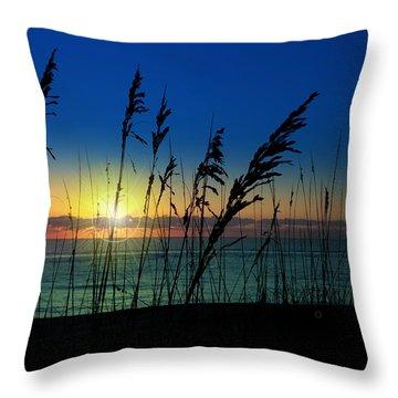 Bad Sea Oats  Throw Pillow