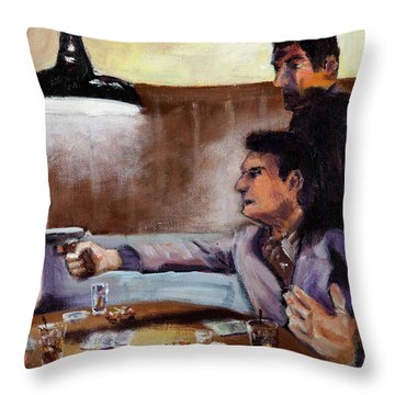 Bad Table Manners Throw Pillow