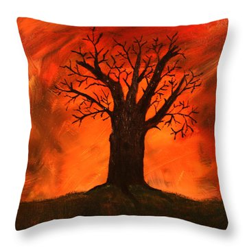 Bad Tree Throw Pillow