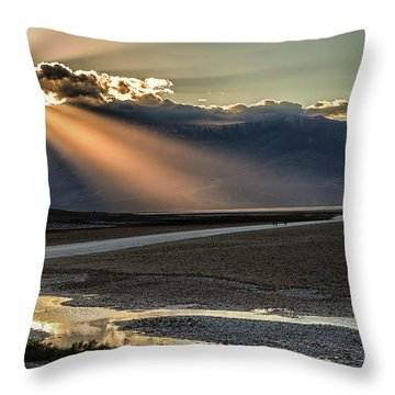 Bad Water Basin Death Valley National Park Throw Pillow