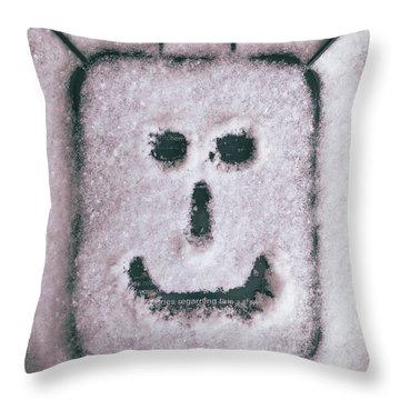 Bad Weather, Good Face Throw Pillow