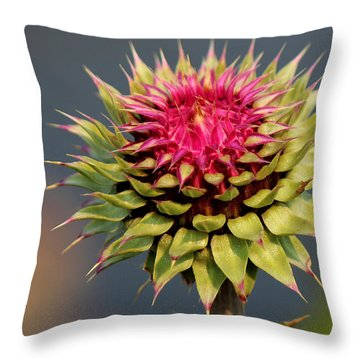 Bad Weeds Grow Tall Throw Pillow