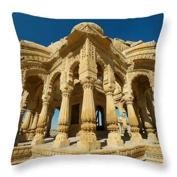 Throw Pillow featuring the photograph Bada Bagh  by Yew Kwang