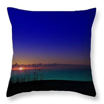 Badblue Sunrise  Throw Pillow