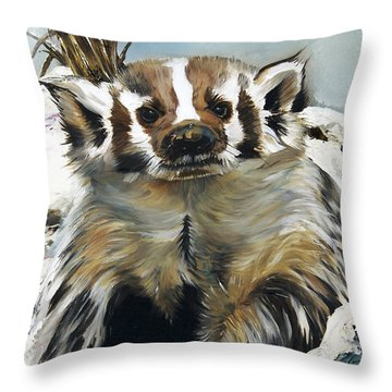 Badger - Guardian Of The South Throw Pillow