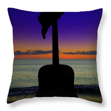 Badguitar  Throw Pillow