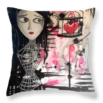Badheart Throw Pillow