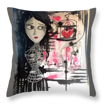 Badheart Throw Pillow