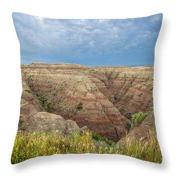 Badland Ravine Throw Pillow