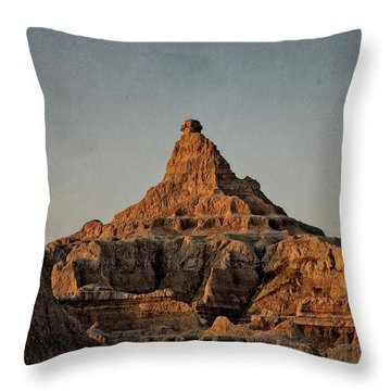 Badlands At Sunrise Throw Pillow