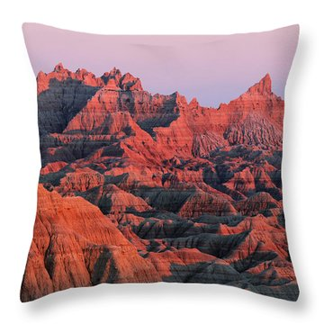 Badlands Dreaming Throw Pillow