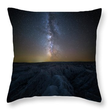 Throw Pillow featuring the photograph Badlands II by Aaron J Groen