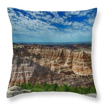 Badlands Landscape Throw Pillow