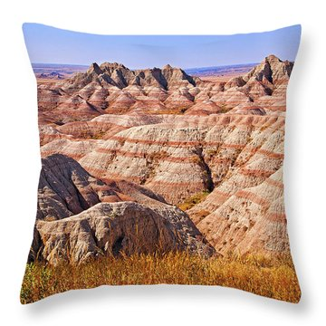 Throw Pillow featuring the photograph Badlands by Mary Jo Allen
