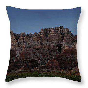 Badlands Moon Rising Throw Pillow