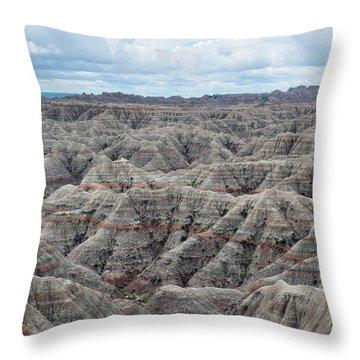Badlands National Park Throw Pillow