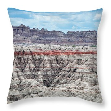 Badlands National Park Vista Throw Pillow