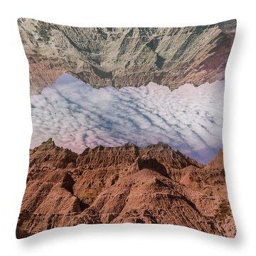 Badlands Reflection.... Throw Pillow