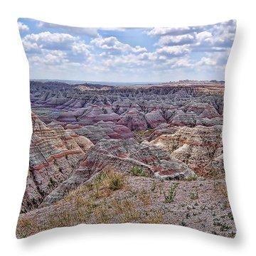Badlands Sky 3 Throw Pillow by Nick Roberts