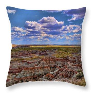 Badlands Sky 4 Throw Pillow by Nick Roberts