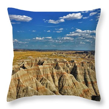 Badlands To Plains Throw Pillow