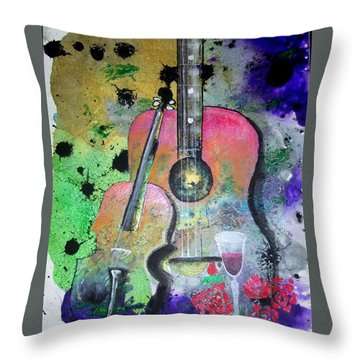 Badmusic Throw Pillow