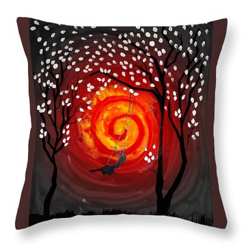 Badswing Throw Pillow