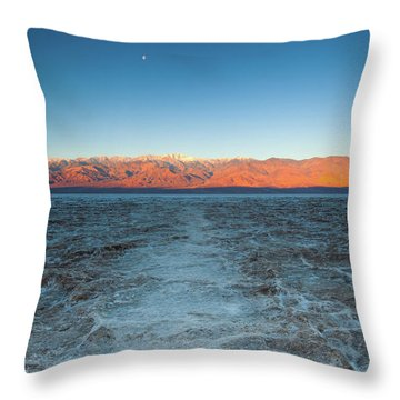 Throw Pillow featuring the photograph Badwater  by Catherine Lau