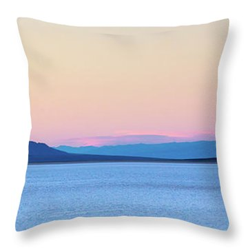 Throw Pillow featuring the photograph Badwater - Death Valley by Peter Tellone