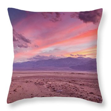 Badwater Sunset Throw Pillow