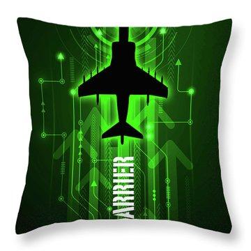 Bae Harrier Digital Throw Pillow