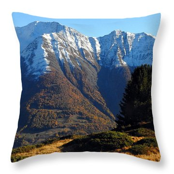 Baettlihorn In Valais, Switzerland Throw Pillow