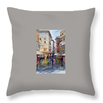 Baffettos Rome Throw Pillow