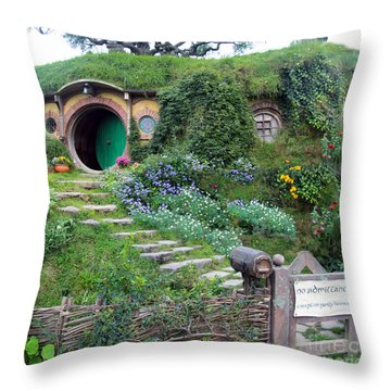Bag End Throw Pillow by Anthony Forster